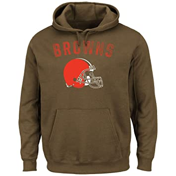 promo code 442a8 9e75d Majestic Cleveland Browns Kick Return Pullover Hooded Sweatshirt
