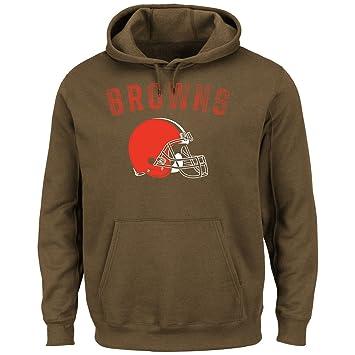 ce2cb2e5 Majestic Cleveland Browns Kick Return Pullover Hooded Sweatshirt