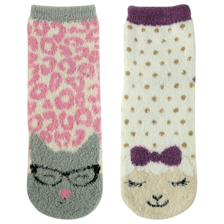 Vive Bears Women's Winter Warm Fuzzy Animal Fashion Non-Slip Casual Crew Gift Socks