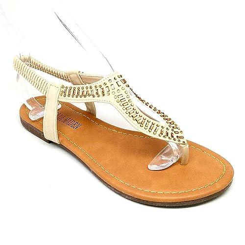 36afae4b37ec9 Stella Maden B7575 Women s Embellished Sandal with Elastic Back (7