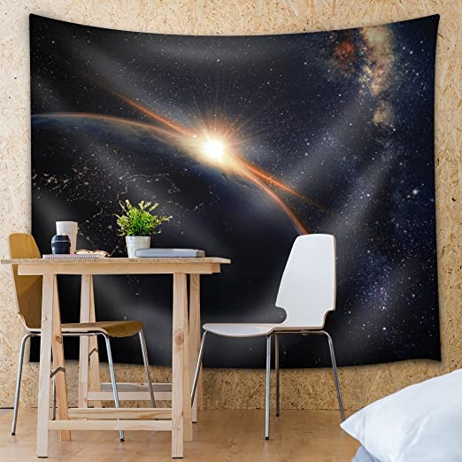 68x80 inches Fabric Tapestry Wall26 Mountains of Land on Another Planet