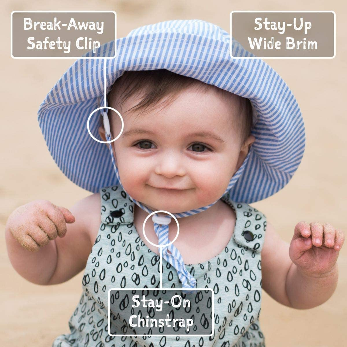 Adjustable for Growth JAN /& JUL Baby Sun-Hat Unisex Kids Breathable Cotton with Wide Brim