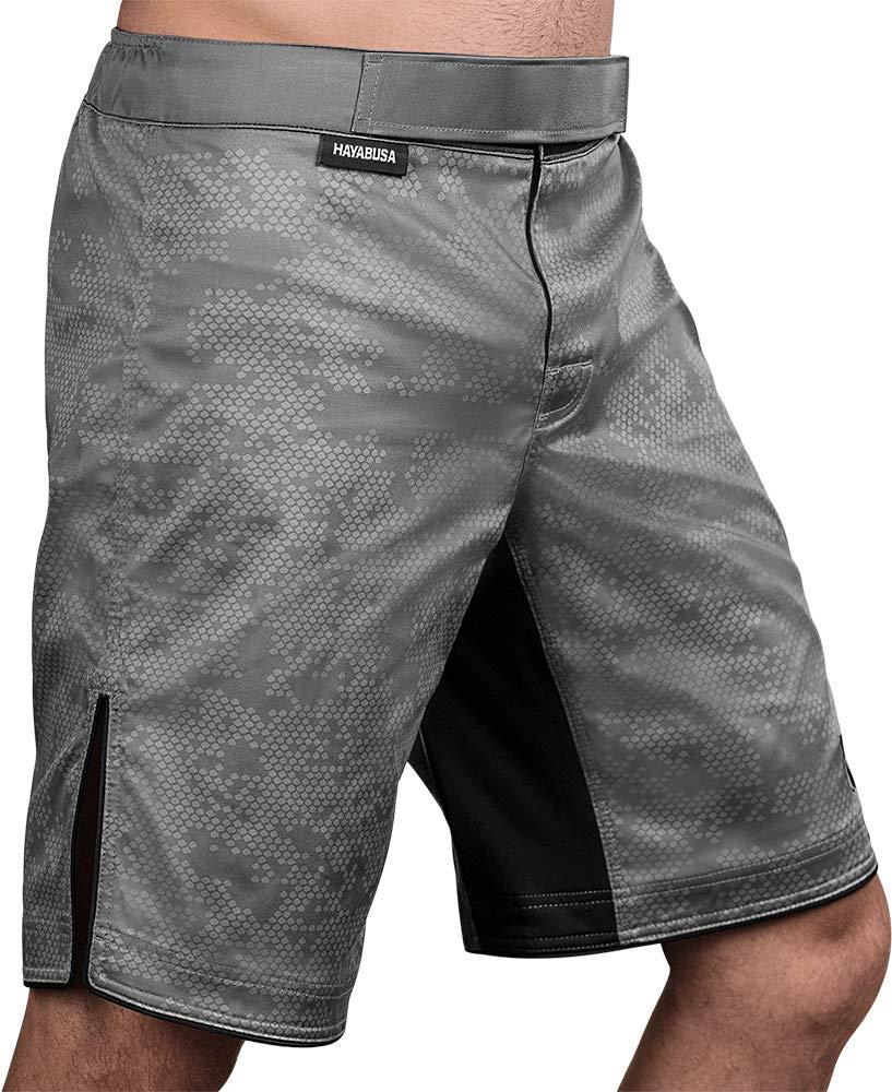 Hayabusa   Hexagon Board Style   Workout and MMA Training Shorts   Grey, XX-Large by Hayabusa