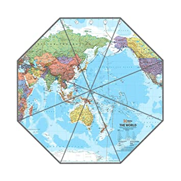 Custom foldable umbrella diy personalized world map design portable custom foldable umbrella diy personalized world map design portable travel umbrella for sun and rain gumiabroncs Choice Image