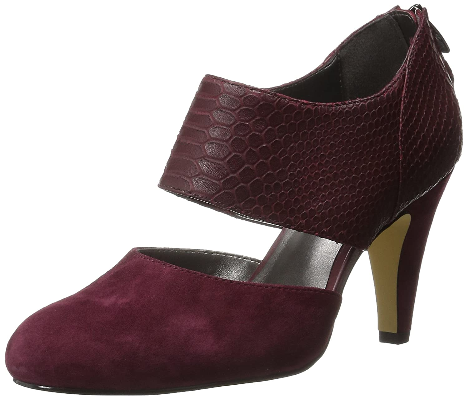 Bella Vita Women's Neola Dress Pump B00U7ZSR44 6 W US|Burgundy Crocodile