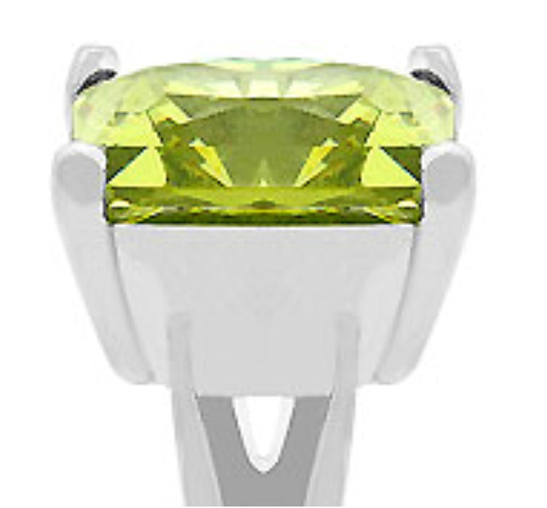 Nadine Peridot Princess 5ct Cubic Zirconia Cocktail Ring Beloved Sparkles