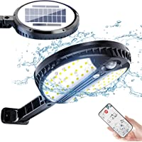 Luz Solar Exterior, Foco Led Solar Exterior con Sensor de Movimiento, 3 Modos de Iluminación, con Mando a Distancia…