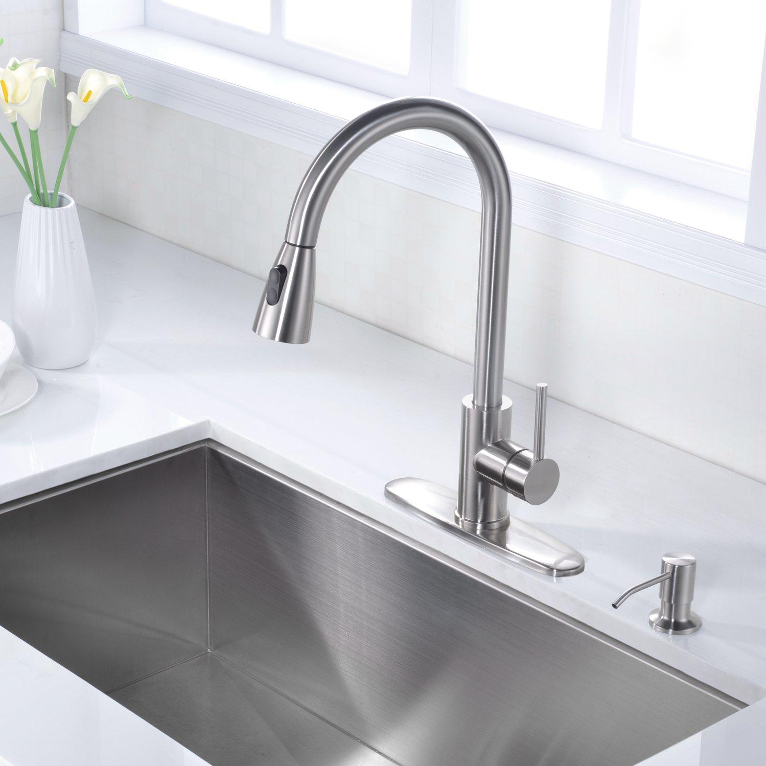 LZD Stainless Steel Sink Soap Dispenser,Built in Hand Soap Dispenser Pump, Large Capacity 17 OZ Bottle, Brushed Nickel by LAZADA HOME (Image #5)