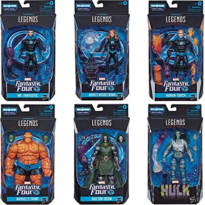 Fantastic Four Legends: Mr. Fantastic, Invisible Woman, Human Torch, Thing, Doctor Doom Action Figure Set: Toys & Games