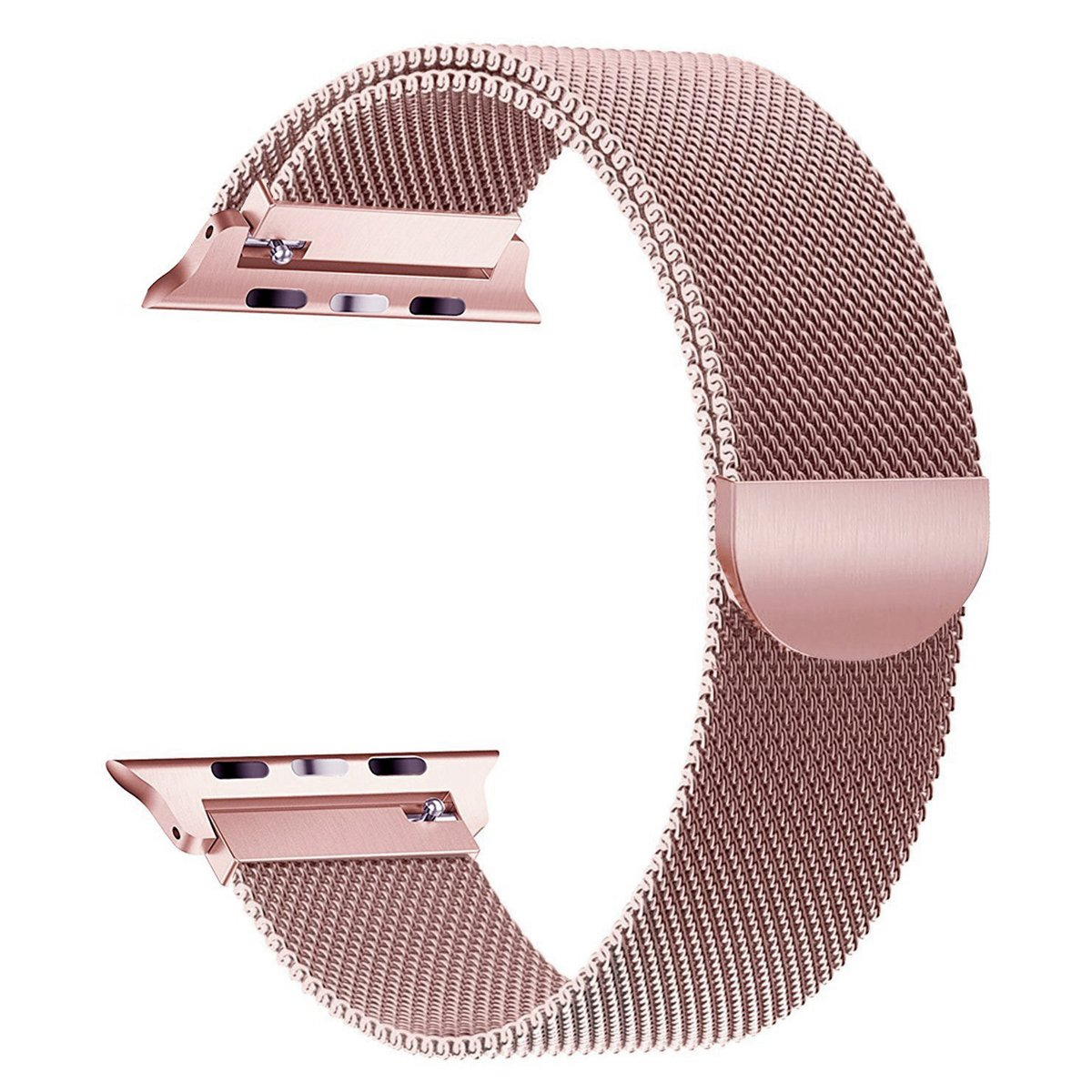 Stainless Steel Band for Apple Watch Replacement Mesh Strap Bracelet for iWatch Series 1 Series 2 Series 3 with Magnetic Closure Clasp 38mm Rose Gold-6