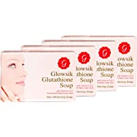 GLOWSIK GLUTATHIONE SKIN WHITENING SOAP WITH VITAMIN C, GRAPE SEED AND ALPHA LOPIC ACID (100 gms)- PACK OF 4