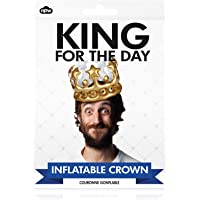 Corona hinchable NPW King para el día, color dorado
