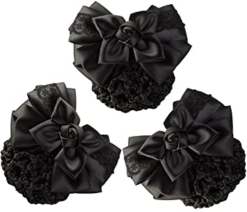 600d0a3b4ba9 Amazon.com   LiveZone (Pack of 3) Women Hair Bun Cover Net Snood ...