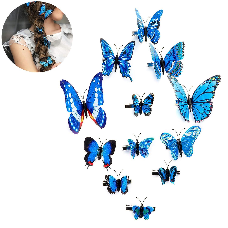 2PCS Girls Hair Clip Accessories Bowknot Butterfly Hairpin Headdress Hair Wear