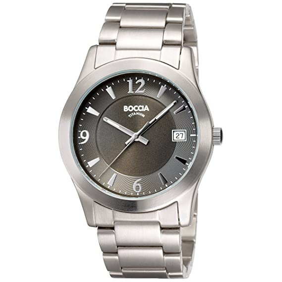 Boccia B3550-02 - Reloj de caballero de cuarzo, correa de titanio color plata: Amazon.es: Relojes