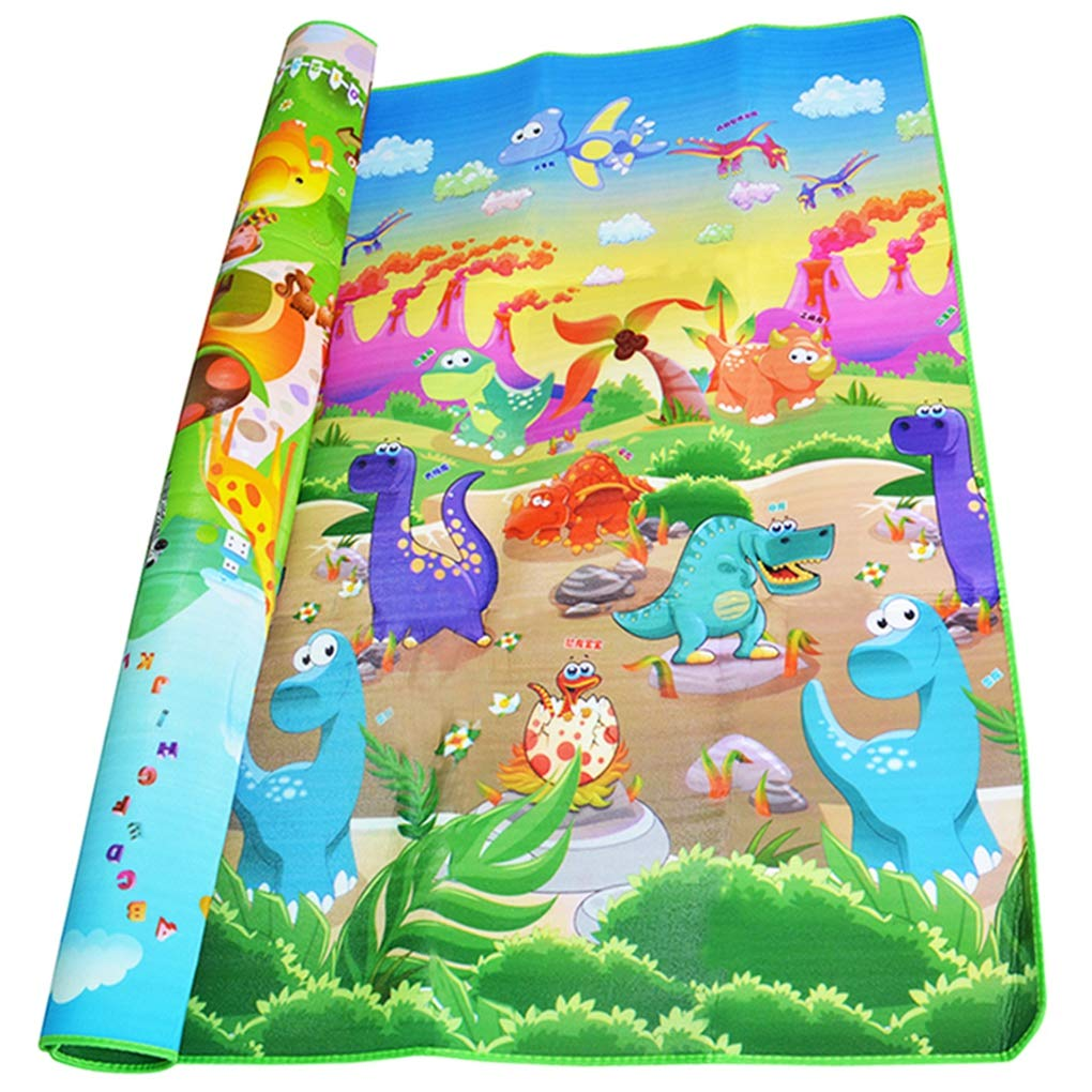 RXIN 0.5cm Double-Side Baby Crawling Play Mat Dinosaur Puzzle Game Gym Soft Floor Eva Foam Children Carpet forBabies Kids Toys