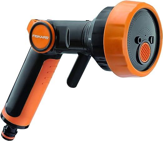 FISKARS 1020446 Pistola 4 Funciones (Chorro, bruma, aireado y Plano), Estándar: Amazon.es: Jardín