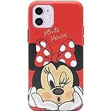MC Fashion iPhone 11 Case, Cute Vibrant Matte IMD Cartoon Case, Slim Fit Black Bumper Full-Body Soft Protective TPU Case for Apple iPhone 11 6.1 inch 2019 (Kiss Minnie Mouse)