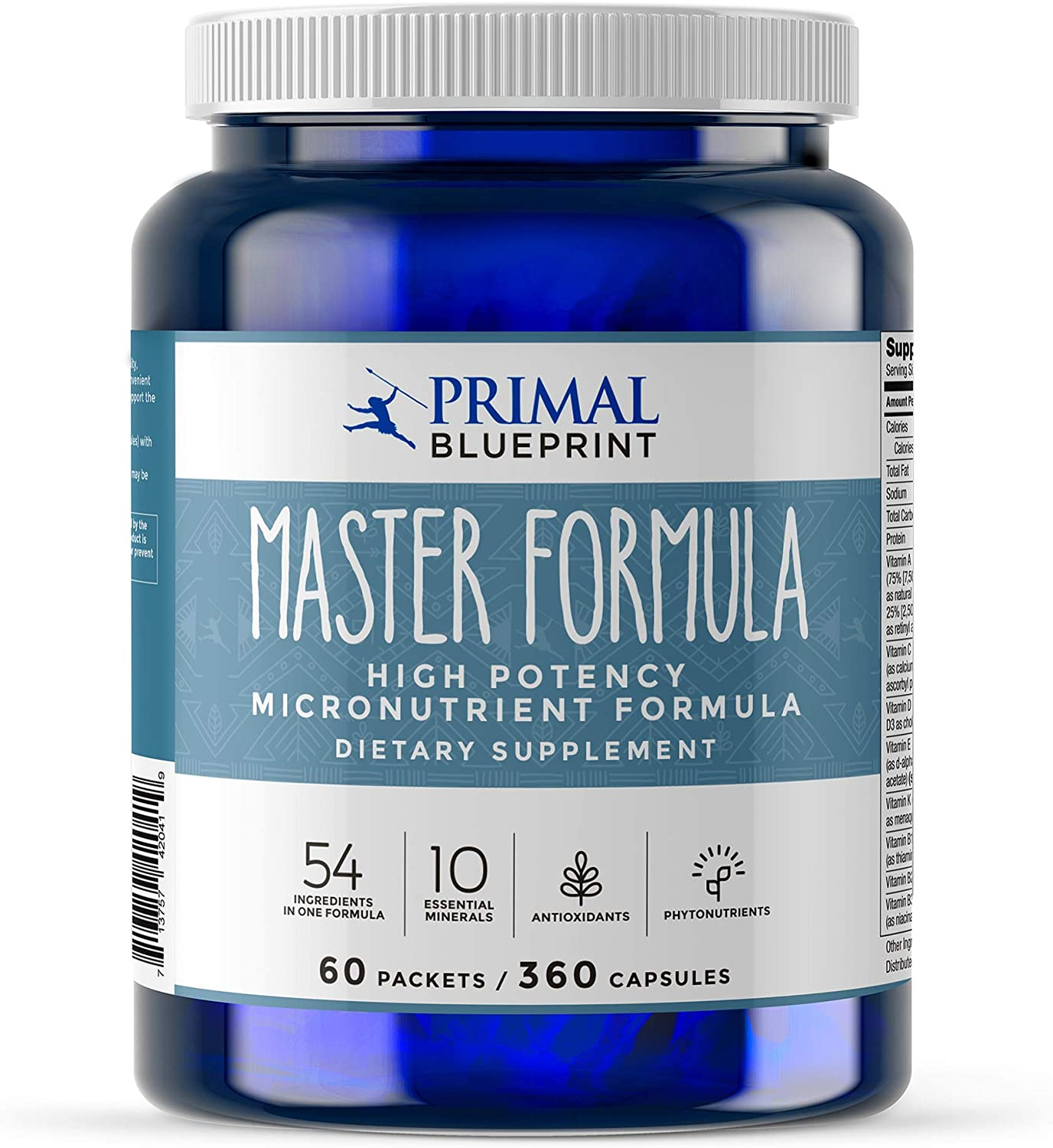 Primal Blueprint Master Formula, Ultra High Potency Multivitamin, 360 Count