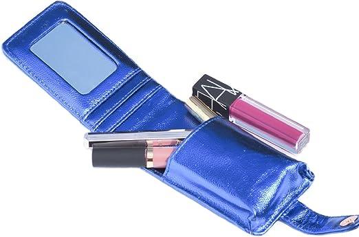 L.A.M.B.S LipSense - Cartera y funda, color dorado y azul metálico: Amazon.es: Belleza