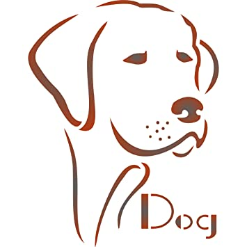 amazon com dog stencil size 5 w x 6 5 h reusable dog stencils