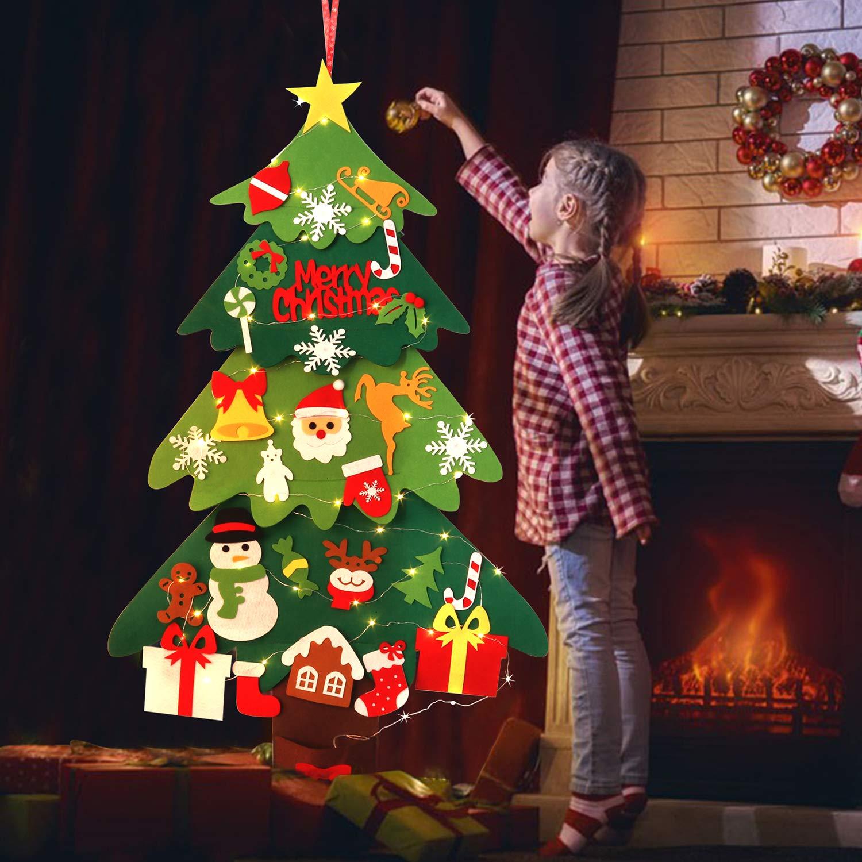 ZOYLINK Albero di Natale in Feltro Albero di Natale Ciondolo Natalizio Bambino Fai da Te