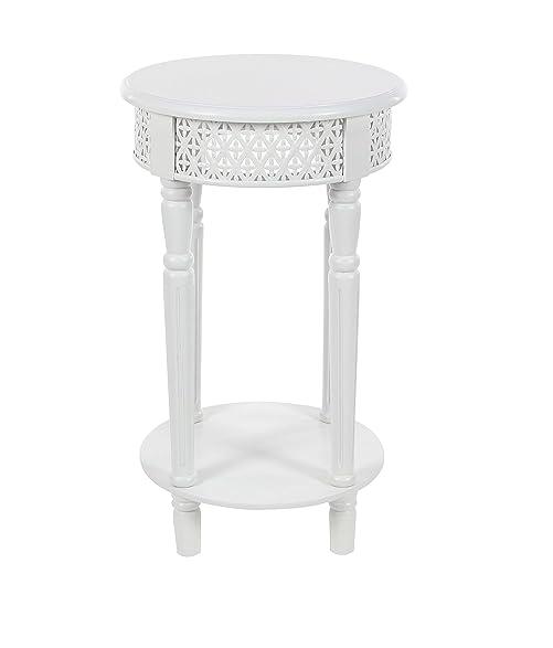 Amazoncom Deco Round LatticePatterned Wooden Side Table - Round lattice coffee table