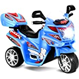 Costzon Ride On Motorcycle, 6V Battery Powered 3 Wheels Electric Bicycle, Ride On Vehicle with Music, Horn, Headlights…