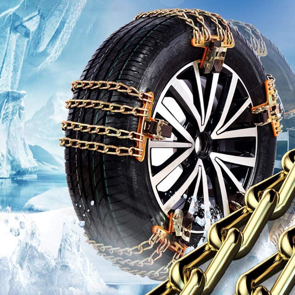 ZY123 Schneeketten f/ür Reifen Spiralschnee mit 4 Ketten Universal-Schneeketten f/ür Pkw-R/äder mit Einer Breite f/ür die meisten Pkw//SUV//LKW Winter-Universal-Sicherheitsketten
