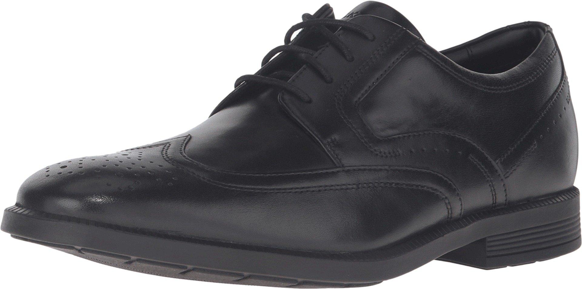 Rockport Men's Dressports Business Wing Tip Shoe, Black, 10 M US