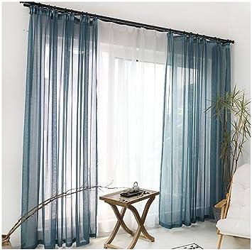 Erstaunlich Cystyle 1er Gardinen Vorhänge Transparent Leinen Optik Mit Kräuselband,  Vorhang Voile Fensterschal Dekoschal Für Wohnzimmer