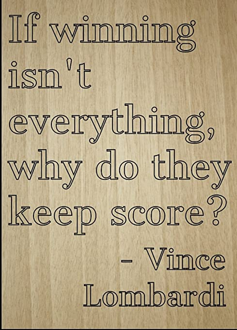 Vince Lombardi Quote on Winning 8x8 overall size