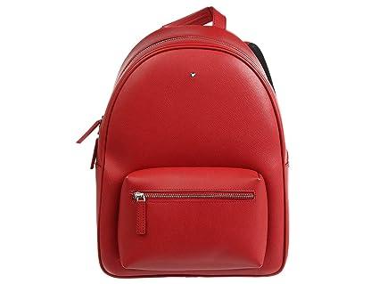 Montblanc 116753 Sartorial - Mochila (tamaño pequeño), Color Rojo