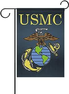 "ONEERA USMC Emblem US Marines Weatherproof Polyester House Flag 28"" x 40"" Seasonal Garden Banner"