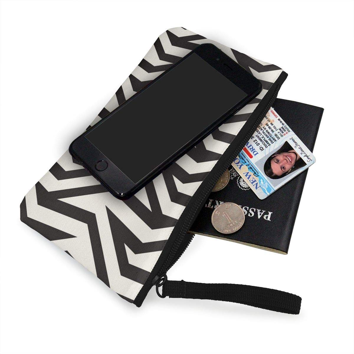Yamini Optical Effect of Zigzag Avant-Garde Fringes Cute Looking Coin Purse Small and Exquisite Going Out to Carry Purse