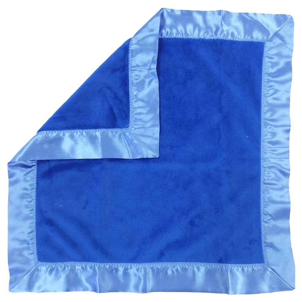 One Grace Place 10-18b025 Simplicity Blue-Binky Blanket, Blue and Light Blue Yeelein