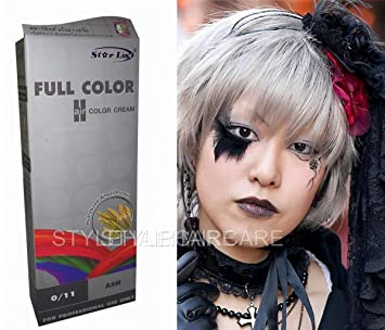 Silber haarfarbe  Permanente Haarfarbe Tönung Coloration Haar Cosplay Gothic Punk ...