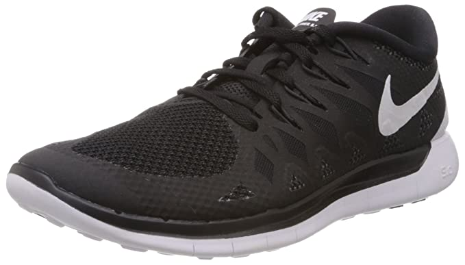 3a0c5a60d Image Unavailable. Image not available for. Color  Nike Men s Free 5.0 Black  White Anthracite Running Shoe ...