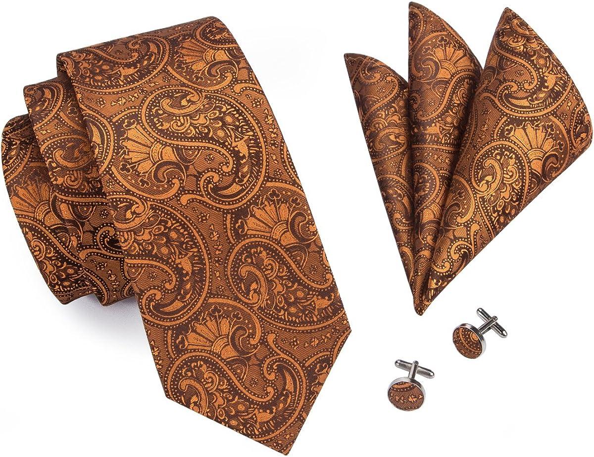 Vert et Blanc Paisley à Motifs Fait Main 100/% Soie Cravate et Mouchoir de Poche Lot