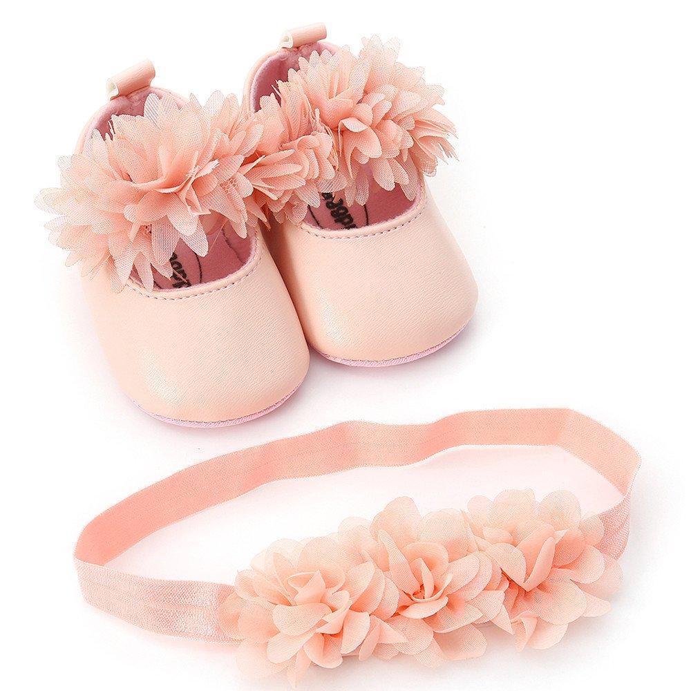 1PC Hairband Elecenty Neonata Scarpe in pelle fiore moda bambino primi camminatori Kid