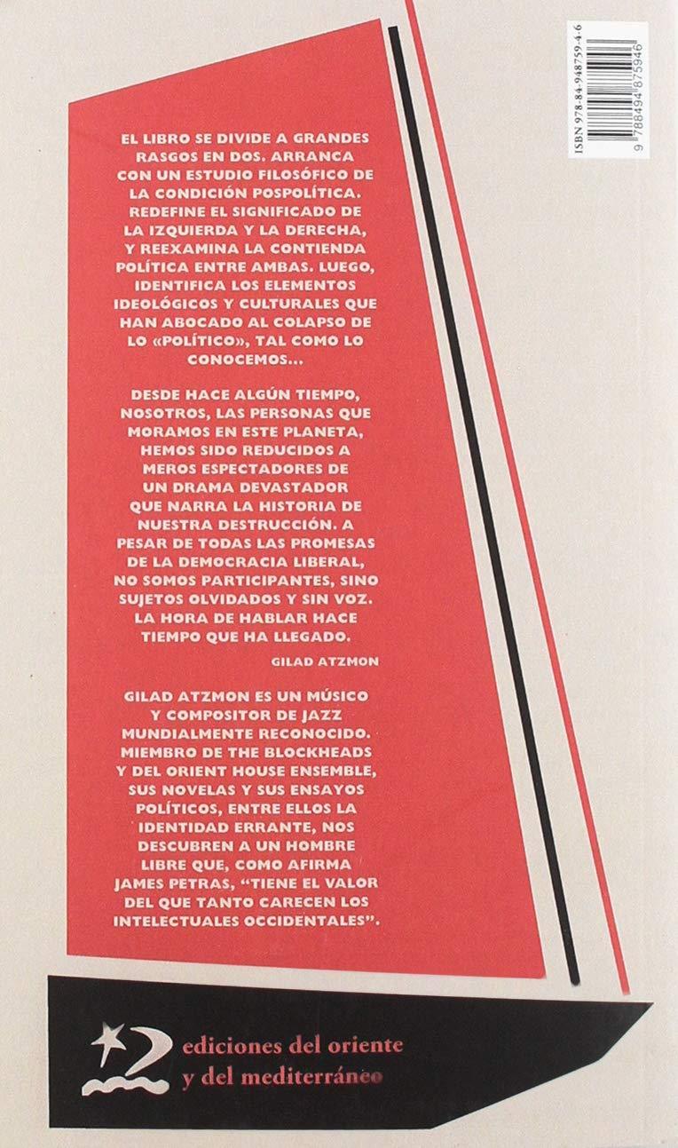 Ser en el tiempo (Disenso): Amazon.es: Gilad Atzmon, Cynthia McKinney, María Enguix Tercero: Libros