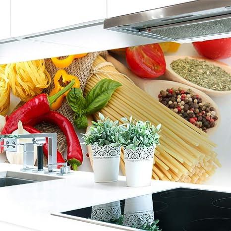 Küchenrückwand Pasta Love Premium Hart Pvc 0 4 Mm Selbstklebend 60x60cm