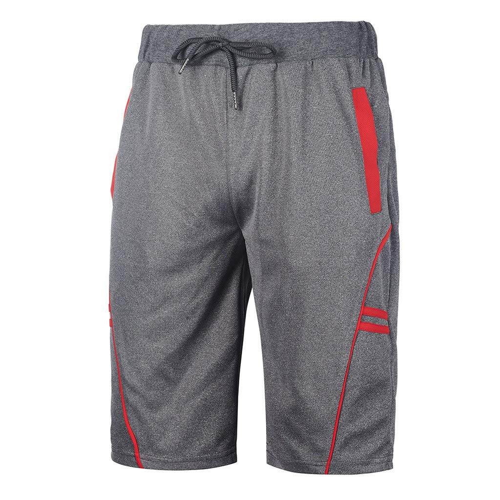 Men's Dry-Fit Sweat Resistant Active Athletic Performance Shorts