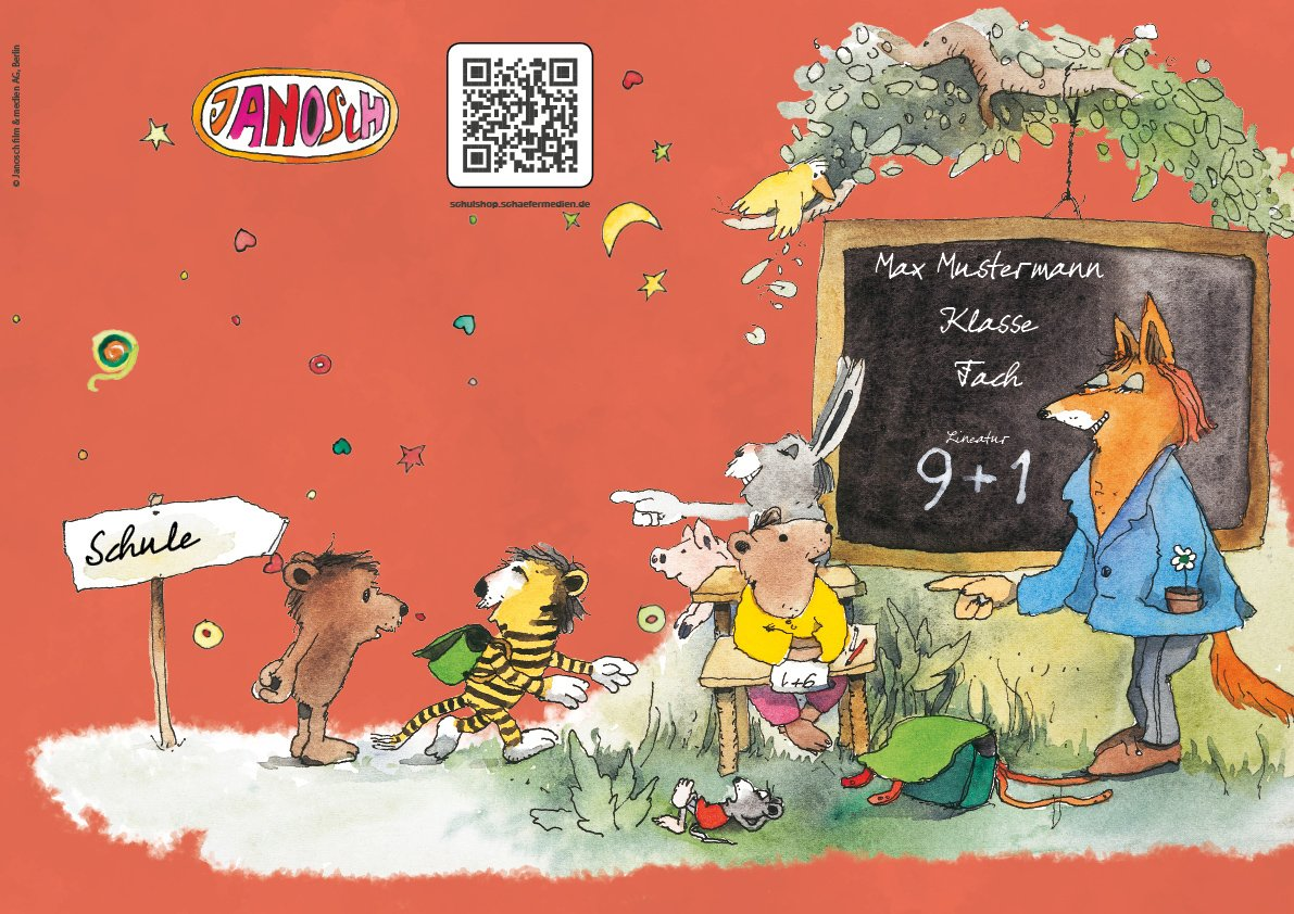 24 lustige JANOSCH-Schulhefte A4, »Fröhliche Schulstunde«, Lineatur 27, MandarinOrange, MandarinOrange, MandarinOrange, personalisierbar, 32 Seiten B0784PVPVV | Hat einen langen Ruf  bfe952
