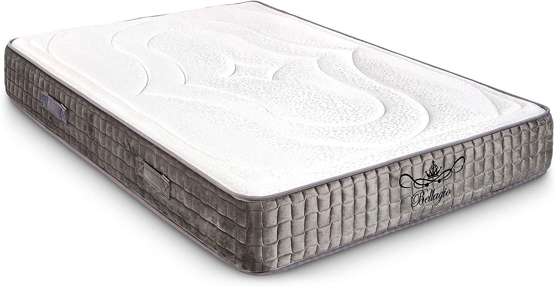 Colchón Viscoelástico Memory Ergonómico 90x190 - Espuma de Alta resiliencia | Bellagio Deluxe Total Comfort