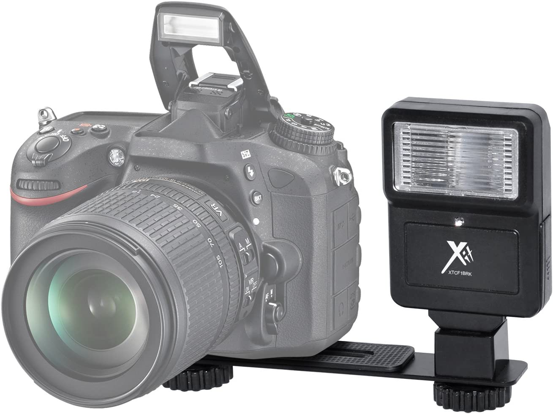 Xit XTCF1BRK Digital Slave Flash with Bracket for Digital//SLR//DSLR Camera Black