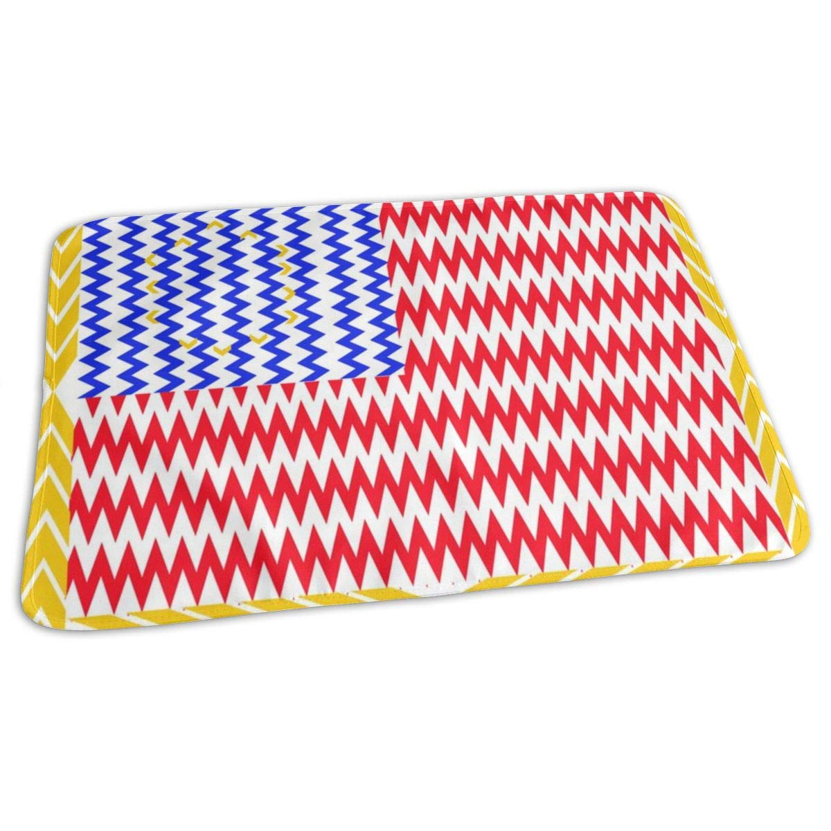 Chevron Stars And Stripes Baby Portable Reusable Changing Pad Mat 19.7x27.5 inch