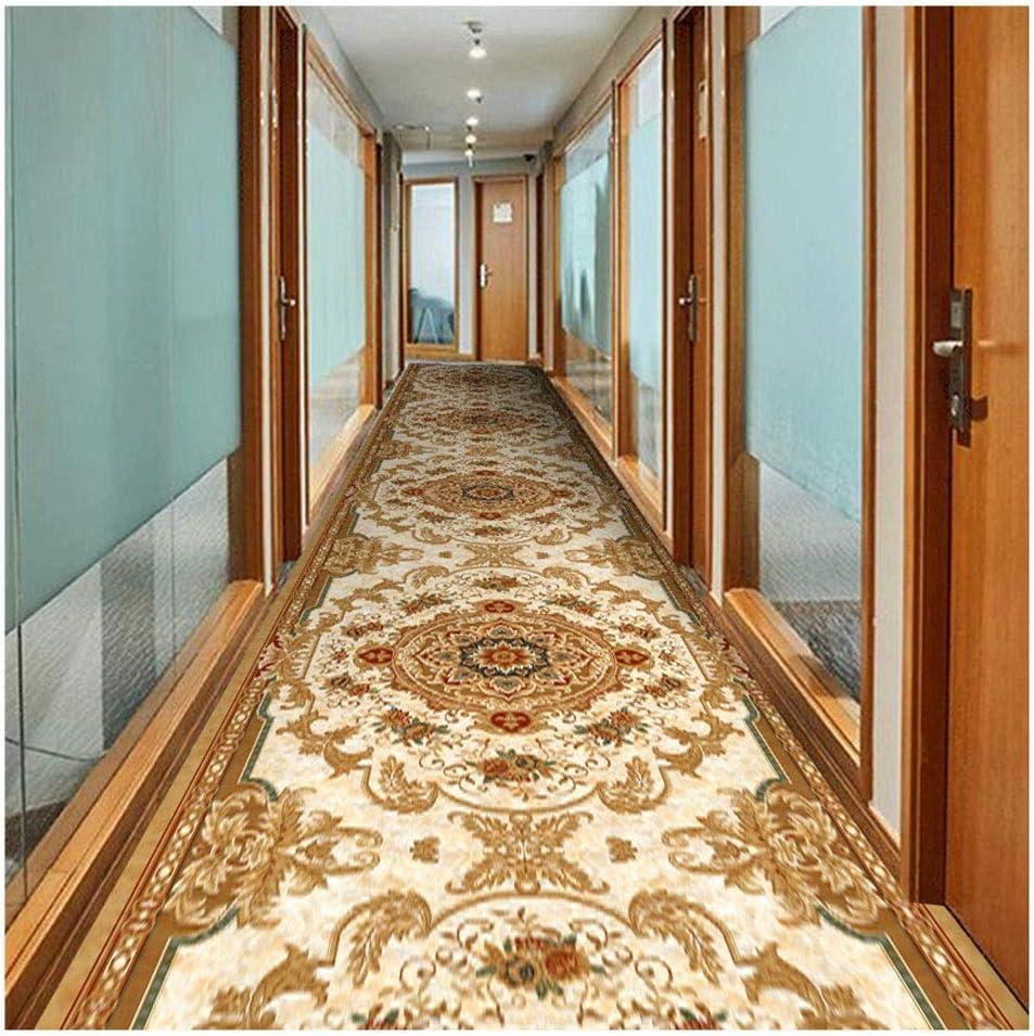 Jcy-La alfombra Pasillo Corredor Entrada Escalera Cocina Oficina En El Hogar,Moqueta Decoración del Hogar Lavable A Máquina,Impresa En 3D (Color : Gold, Size : 0.6x5m): Amazon.es: Hogar