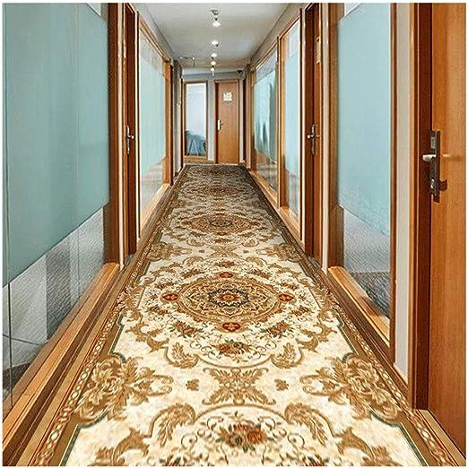 LISI-Alfombra del pasillo Corredor Entrada Escalera Cocina Oficina En El Hogar,Moqueta Decoración del Hogar Lavable A Máquina,Impresa En 3D (Color : Gold, Size : 0.6x5m): Amazon.es: Hogar