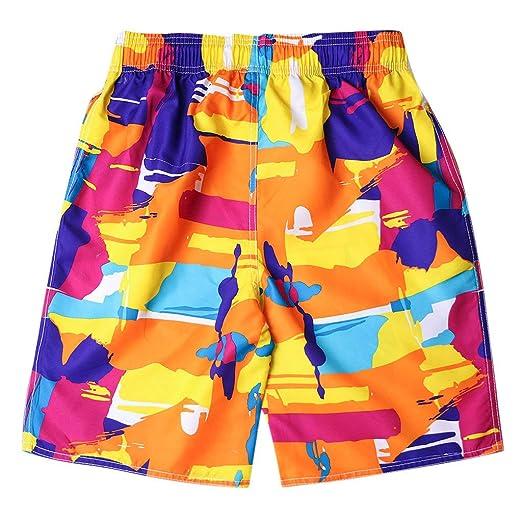 3406288f2dc194 Men's Shorts Swim Trunks Quick Dry Beach Surfing Running Swimming Watershort  Orange
